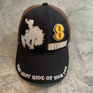 Vintage Bull Riding 8 Seconds Rodeo Cowboy Hat